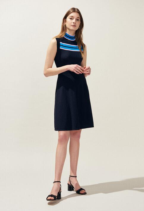MURIEL : Dresses color Marine