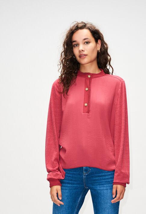 TRUDIEH19 : T-Shirts farbe CERISE