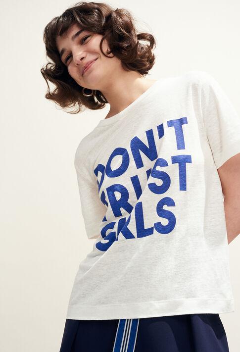 TEARS : T-Shirts farbe ECRU