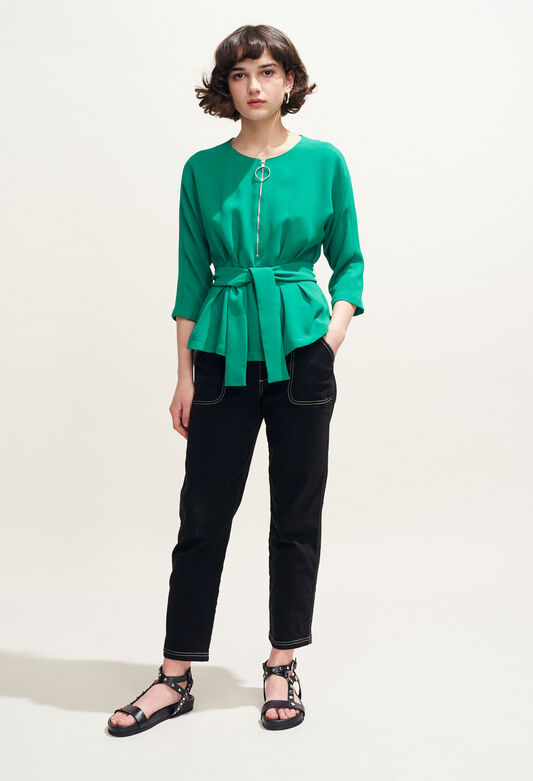 BAVIERE : Tops & Shirts color VERT VEGETAL