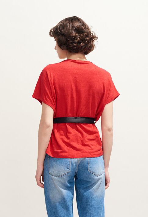 TELLINE : T-Shirts couleur Ecarlate