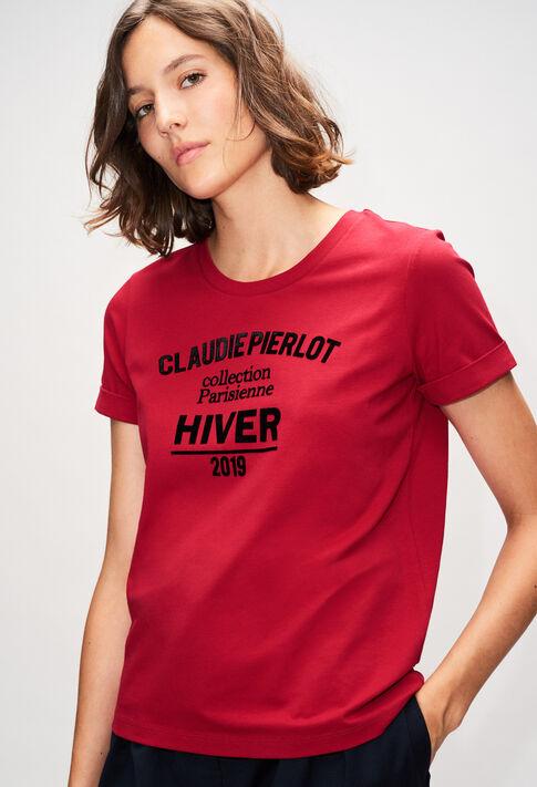 TRISTANH19 : T-shirts color CERISE