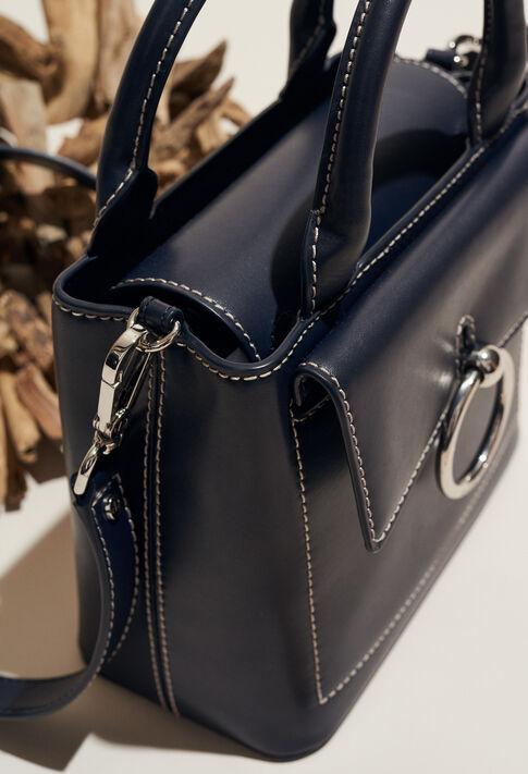 ANOUCK SMALL SADDLE STITCH : Sacs et Maroquinerie couleur MARINE