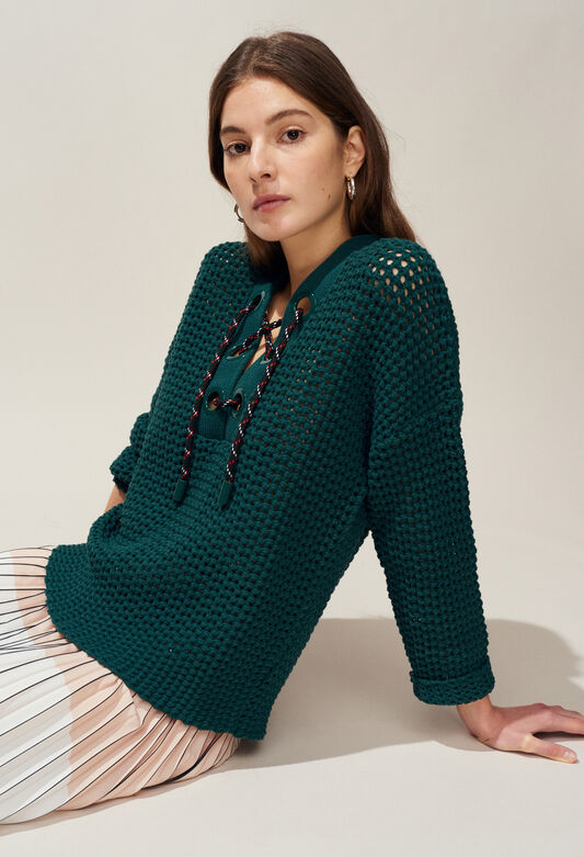 MODERNE : Maille & Sweatshirts couleur VERT IMPERIAL