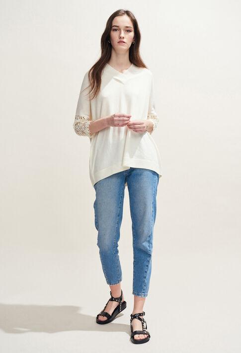 MANIA : Strick & Sweatshirts farbe Ecru