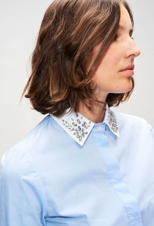 CAJOLINAH19 : Tops & Shirts color BLEUET