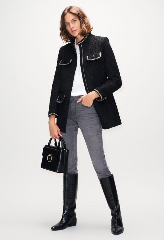 GAUFRETTEH19 : Manteaux et Blousons couleur NOIR