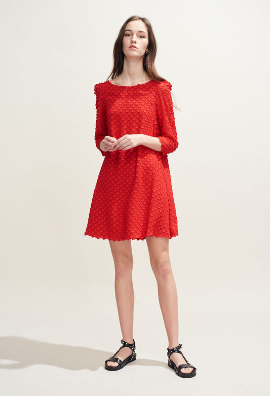 RIFIFI NUAGE : Robes couleur ECARLATE