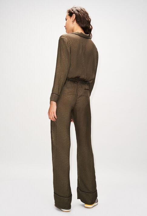 POLIDORH19 : Pantalons et Jeans couleur KAKI ARMY