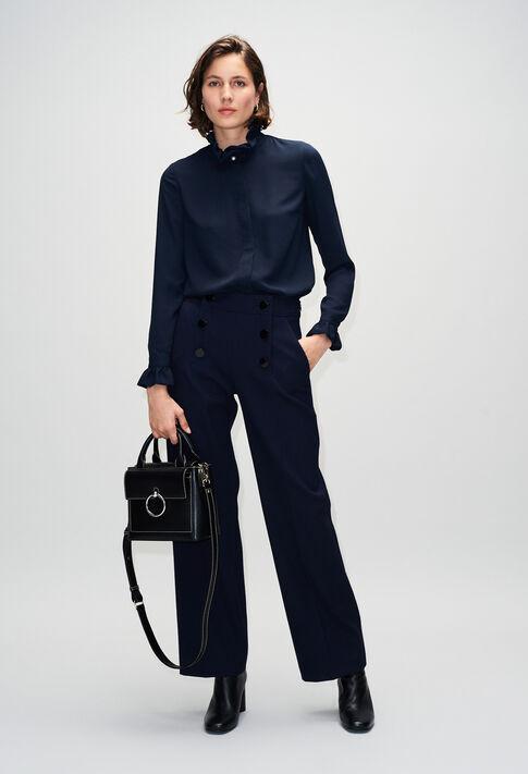ANOUCKSMALLSADDLESTITCHH19 : Bags & Leather Goods color BLACK