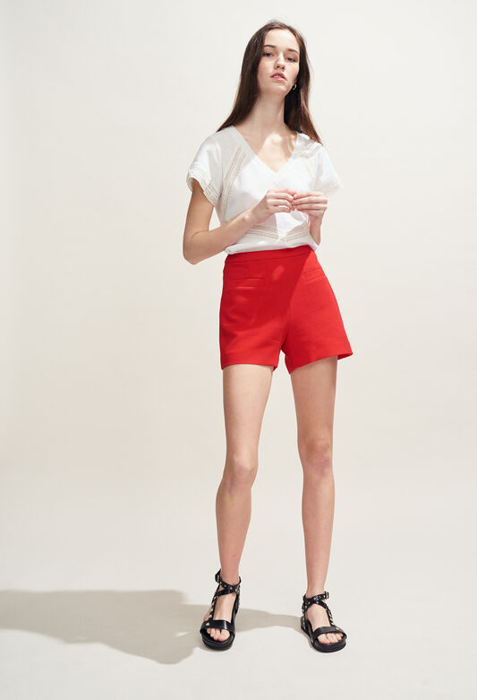 ERYNE : Skirts & Shorts color ECARLATE