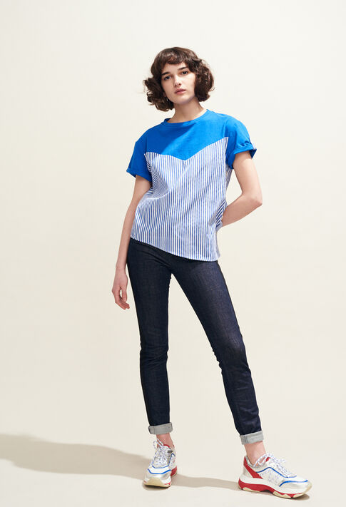 TATUM : T-shirts color Indigo