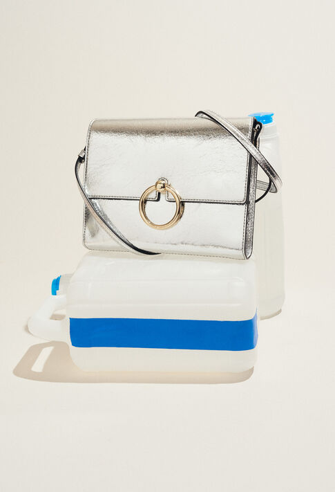 ANOUCK POUCH BIS : Bags & Leather Goods color Silver