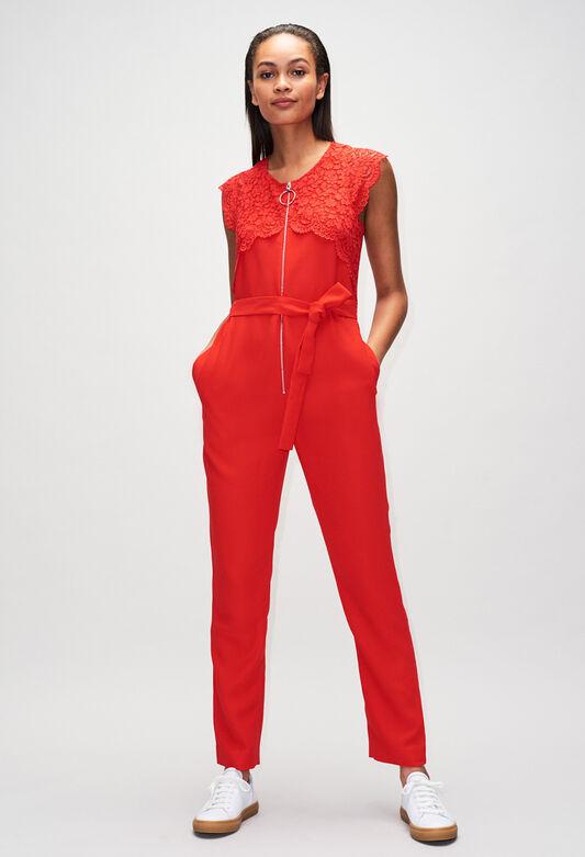 JAMIEH19 : Pantalons et Jeans couleur ROUGE