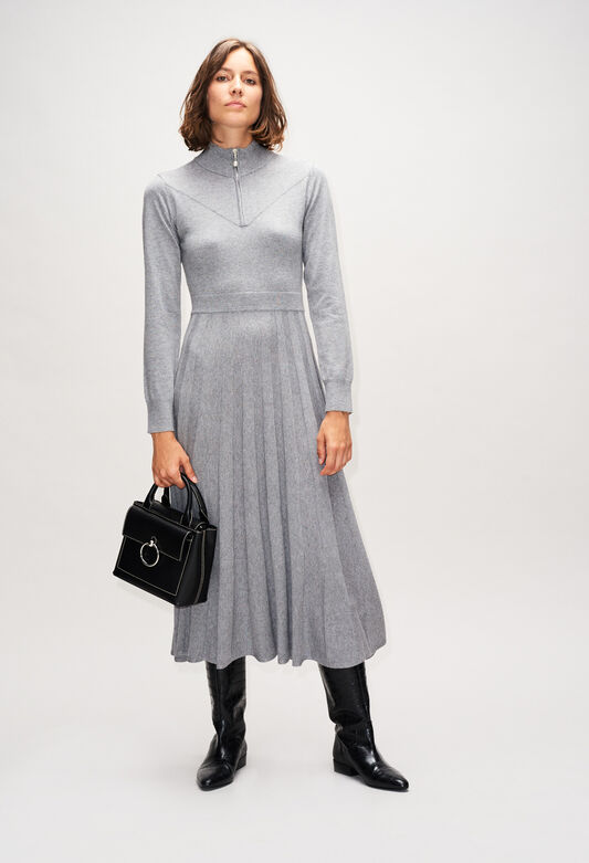 MAMMAH19 : Dresses color GRIS CHINE CLAIR