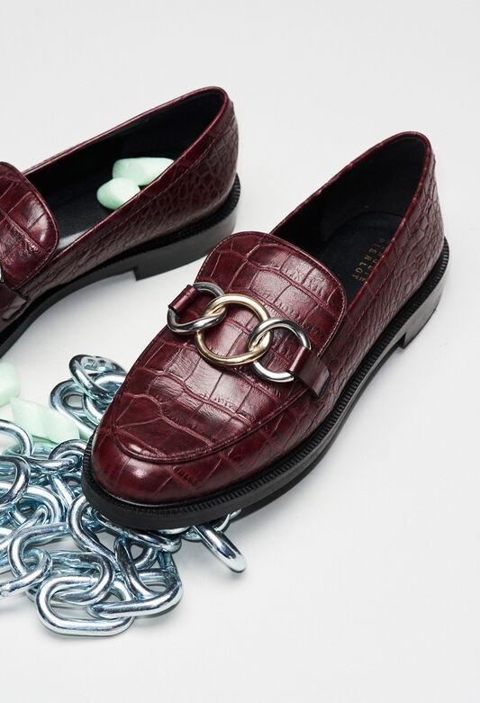 ACCORDCROCOH19 : Shoes color CARMIN