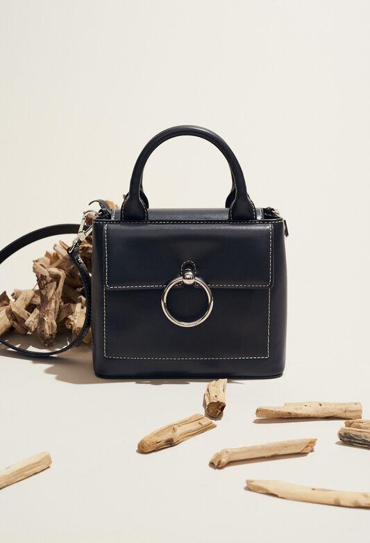 ANOUCK SMALL SADDLE STITCH : Taschen und Lederwaren farbe MARINE