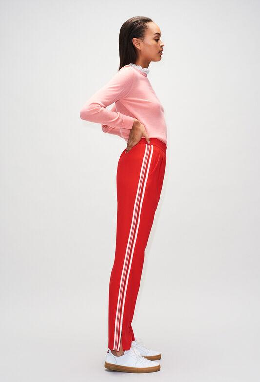 PAMPILLEH19 : Jeans & Pants color ROUGE