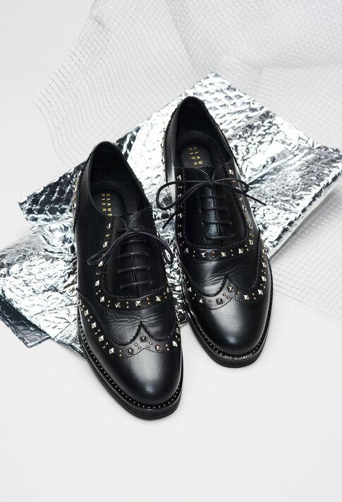 ALEXISSTUDSH19 : Chaussures couleur NOIR