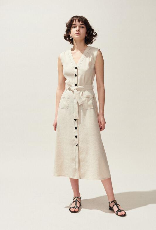ROUQUINE : Dresses color Off White