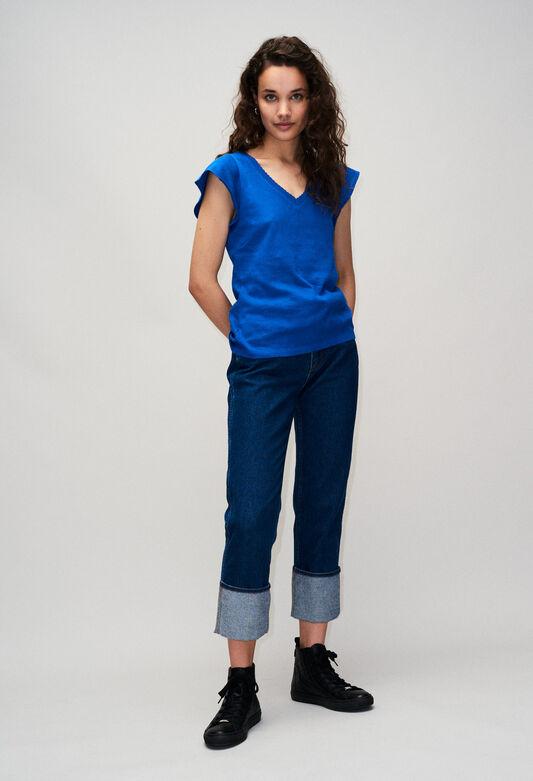 TRESSEH19 : T-Shirts couleur BLEU ROI