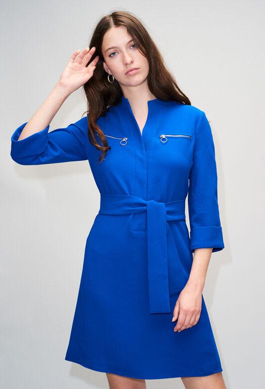 REDH19 : Kleider farbe BLEU ROI