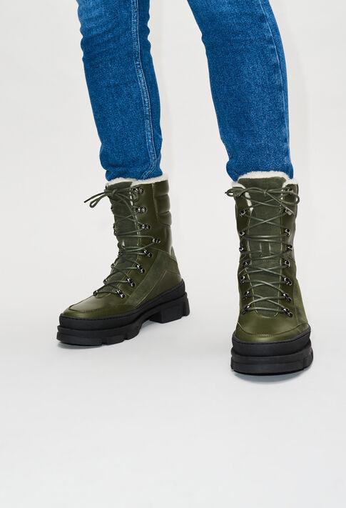 AUBEH19 : Chaussures couleur KAKI
