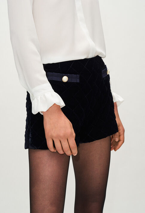 EFFECTH19 : Jupes et Shorts couleur MARINE
