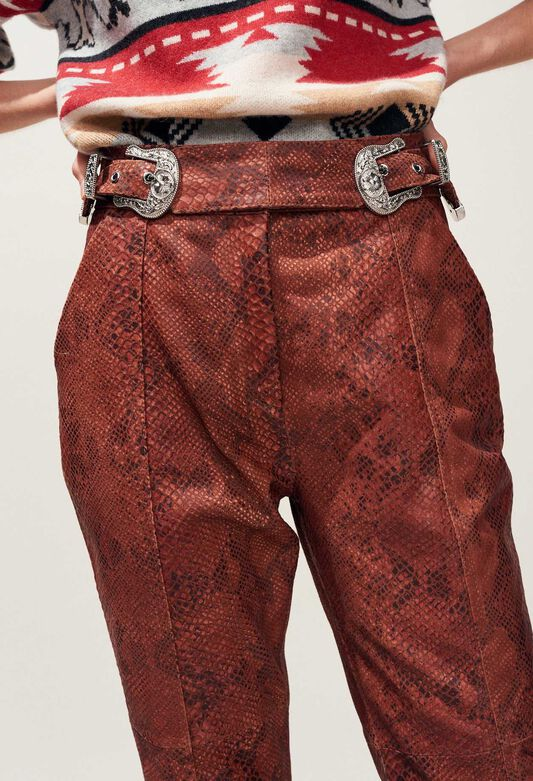 CRANBERRY : Pantalons Jupes & Shorts couleur PYTHON
