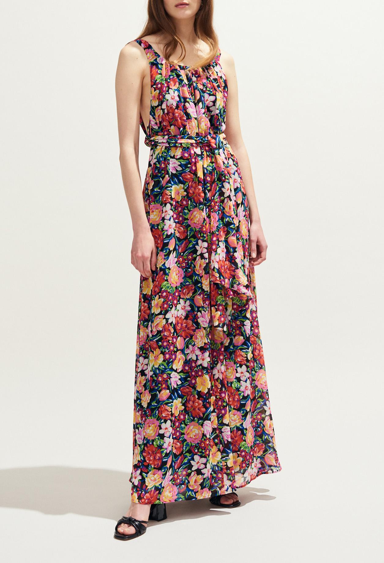 grand choix de extrêmement unique modèle unique Robe longue dos nu imprimée fleurs